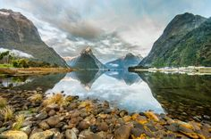 This photo from Southland, South Island is titled 'Milford Sound'. Milford Sound, South Island, New Zealand, To Go, Earth, Mountains, Places, Water, Travel