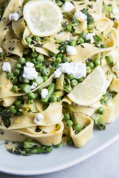 Spring Veggie and Goat Cheese Pasta ·