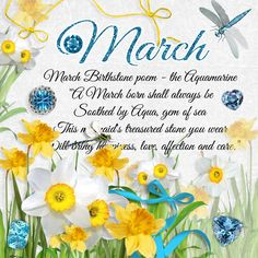 Here we have some pretties created by Susan for you from the March Birthday Collection , enjoy! I love these overlays she has created! March Baby, Hello March, March Month, Happy March, Birth Month Quotes, New Month Quotes, Happy Birthday Celebration, Birthday Wishes, New Month Wishes