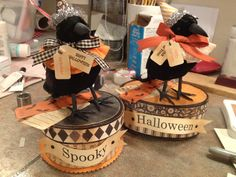 Halloween crows I made.