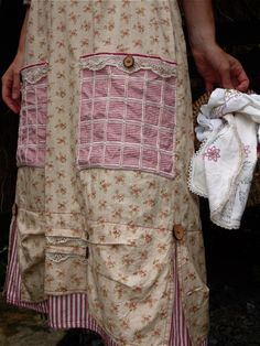This is the sweetest Farmhouse Apron. Love the prints and the details. ~ This is just so pretty!!