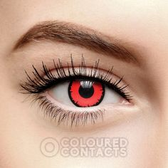 4322185b1cf Red Angelic Vampire Coloured Prescription Contact Lenses (90 Day)