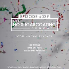 Coming Sunday! Find us: No Sugarcoating Podcast (Sugarcoating is ONE WORD) on iTunes Stitcher Pocket Casts Casts or listen on HealthfulPursuit.com  #nosugarcoatingpodcast #emotionaleating #holisticnutrition #health #womenhealth #bodypositivity #ketogenic #keto #lowcarb #paleo #weightgain #weightloss #glutenfree #paleo #fatfueled by healthfulpursuit