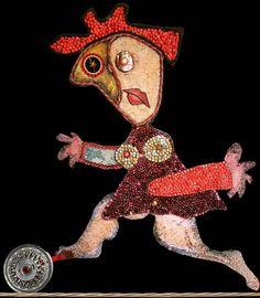 """Mi piace"": 0, commenti: 1 - massimo j. monaco (@massimo.j.monaco.artist) su Instagram: ""THE DANCER ON THE WIRE (character of the play Pinocchio) 1980 cm.100x75 - Two-dimensional wooden…"""