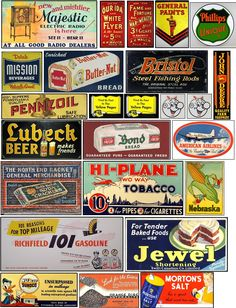 Signs and Graphics for your Model Railroad Ho Scale Train Layout, Ho Train Layouts, Vintage Tins, Vintage Labels, Advertising Signs, Vintage Advertisements, Vintage Banner, Train Posters, Mini Doll House