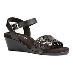 Women's Walking Cradles Nara Wedge Sandal Soft Antanado Leather (US Women's 7 S (Narrow))