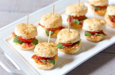 Delicious Finger Sandwiches Perfect For Afternoon Tea Mini Pimento BLT Cheddar Biscuits will be a crowd pleaser at your next tea party!Mini Pimento BLT Cheddar Biscuits will be a crowd pleaser at your next tea party! Mini Sandwiches, Tea Party Sandwiches Recipes, Finger Sandwiches, Sandwich Recipes For Kids, Afternoon Tea Recipes, Afternoon Tea Parties, Cheddar Biscuits, Tea Biscuits, Snacks Für Party