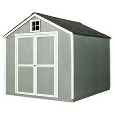 heartland common x interior dimensions x feet value gable engineered wood wood storage shed - Garden Sheds 8 X 4