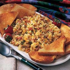 Morning Mix-Up - Great way to start of the day is with a hot breakfast.  This recipe only takes 15minutes.