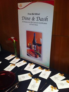 Grub Grab, Restaurant Row, Dine  Dash...call it whatever you want, it's a great way to clear your silent auction of it's Restaurant Gift Cards...at 100% of face value.
