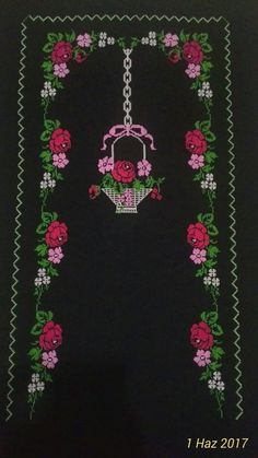 Funny Cross Stitch Patterns, Easy Crochet Patterns, Cross Stitch Designs, Knitting Patterns, Hand Embroidery Stitches, Cross Stitch Embroidery, Hobbies And Crafts, Diy And Crafts, Mantel Azul