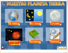"""""""Nuestro planeta Tierra"""" es una aplicación de Vedoque que contiene exposiciones y juegos centrados en el aprendizaje sobre la Tierra y el Universo cercano. Apropiada para 3º y 4º niveles de Educación Primaria."""