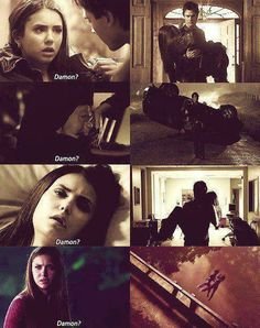 Damon always saves her.