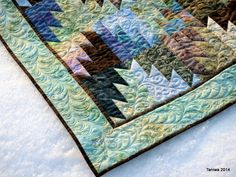 Quilting on Scrappy Mountain Majesties