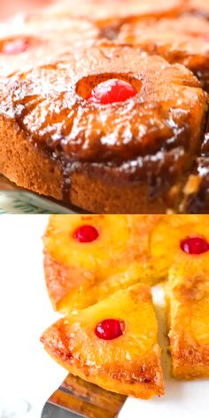 Pineapple upside down cake has to be one of the most beautiful looking and best-tasting cakes that exists. It is considered a classic American cake and the trick to making the beautiful top happens when you flip it as you remove it from the oven. Pineapple Upside Down Cake From Scratch, Vegan Pineapple Upside Down Cake Recipe, Pineapple Upsidedown Cake Recipe, Pineapple Upside Down Cupcakes, Cake Recipes From Scratch, Easy Cake Recipes, Easy Desserts, Tropical Desserts, Sweets