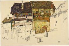 Casas antiguas de Krumau - Egon Schiele