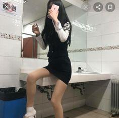 Cute School Uniforms, School Looks, Girl Model, Beauty Hacks, Beauty Tips, Stockings, Bodycon Dress, My Style, Pretty