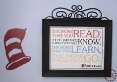 Seuss Quote Printable, great for back to school.  Other great printables on this site.