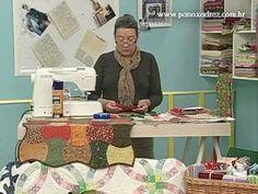 Tia Lili no Ateliê na TV (12/08/11): Caminho de mesa com técnica Apple Core