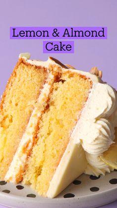 Fun Baking Recipes, Sweet Recipes, Dessert Recipes, Lemon Cake Recipes, Healthy Cake Recipes, Just Desserts, Delicious Desserts, Yummy Food, Almond Cakes