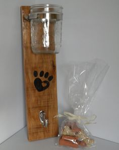 Dog Leash and Treat Holder by MyCreativeMagic on Etsy, $25.00