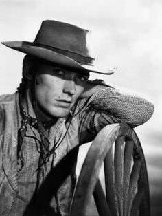 Clint Eastwood As Rowdy On Rawhide.