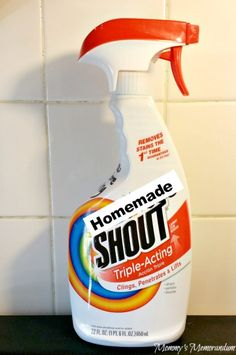 #DIY Homemade Shout #Laundry