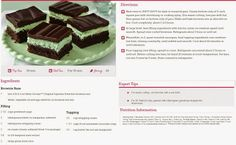 Easy Chocolate Mint Brownies