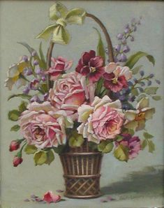 Christie Repasy   Garden Basket Bouquet