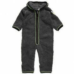 Molo Boys Grey Fleece Romper at Childrensalon.com