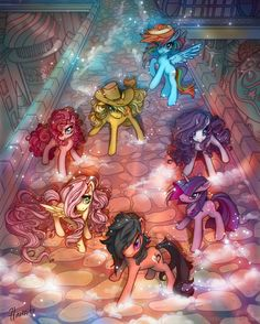 MLP FIM Commission: New Dawn in Canterlot by hinoraito
