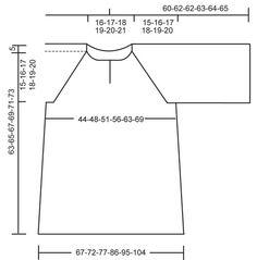 """DROPS 112-3 - Túnica de punto DROPS con canesú y mangas raglán en pt elástico en """"Muskat"""". Talla: S - XXXL. - Free pattern by DROPS Design"""