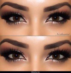 Bridal makeup for brown eyes - http://3kbeauty.com/bridal-makeup-for-brown-eyes.html