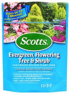 Scotts Evergreen Flowering Tree And Shrub Fertilizer *** Click on the image for additional details.