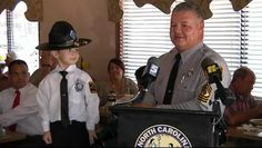 4-year-old cancer survivor's dream of being a highway patrol trooper comes true.... Another reason NCSHP is the best!! Is this not the cutest thing EVER!!!!