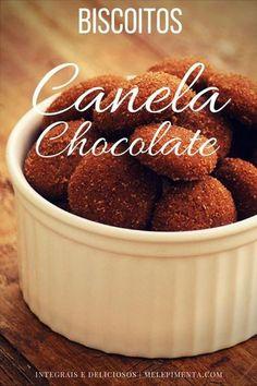Biscoito integral de canela chocolate