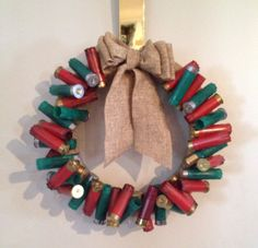 Shotgun shell wreath by ItsADucksLife on Etsy, $30.00