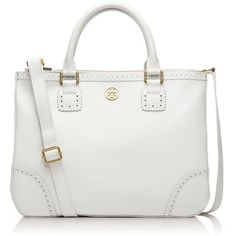 Tory Burch Robinson Spectator Double Zip Tote ($595) ❤ liked on Polyvore