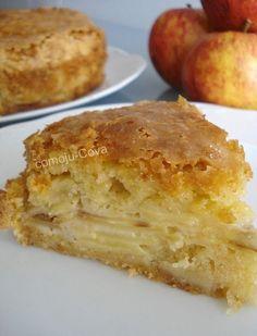 TORTA DE MANZANAS PALMIRA   * 210 gr. de harina leudante  * 230 gr. de azúcar  * 100 gr. de mantequilla   * 2 manzanas en finas rodajas   *...