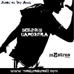 Image pour annoncer les soldes #capoeira en noir et blanc chez Mestres Brasil >>> http://bit.ly/capoeirasoldes