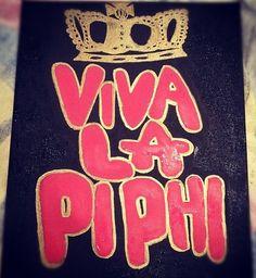 Viva La Pi Phi canvas DIY! #piphi #pibetaphi