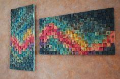 Wood wall art Northern lights 3 d wall art decor Reclaimed