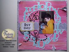 Have you seen Clare's layout on the blog today? So cute!! www.chatteringrobins.blogspot.com #scrapbooking #scrapbook #cricut #diamonds #dewdrops #cre8time #creative #robinsnestscrap