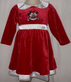 Girls 12M Disney - Minnie Mouse - Mickey Mouse - Red $13.99
