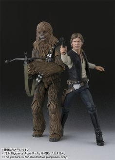 New S.H. Figuarts Episode IV Han Solo Images Featuring Chewbacca #StarWars