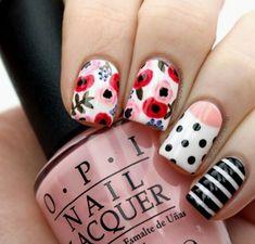 Pink red black stripes