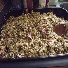 Healthy homemade granola; easy on your budget, good for your family.