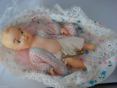 Mattel Vintage 1963 Barbie Baby-Sits Baby Flannel Sacque Diaper bed pillow liner