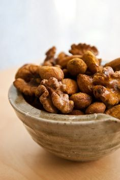 Activated, spiced nuts