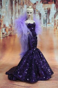 Gown-Outfit-Dress-Fashion-Royalty-Silkstone-Barbie-Model-Doll-FR BY T.D.18/5/2